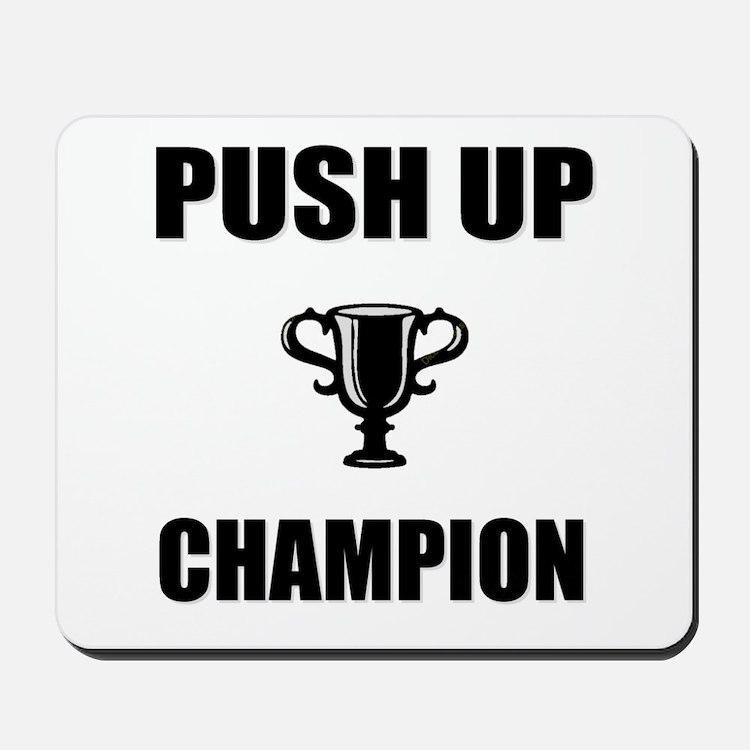 push up champ Mousepad