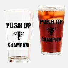 push up champ Drinking Glass