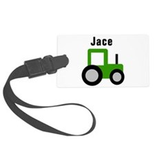Cute Green tractors Luggage Tag