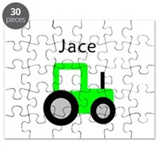 Jace Light Green Tractor Puzzle
