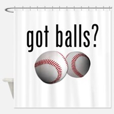 Got Balls? Baseball Shower Curtain