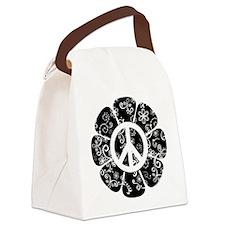 Peace Flower Canvas Lunch Bag