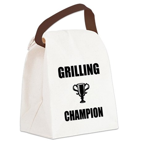 grilling champ Canvas Lunch Bag