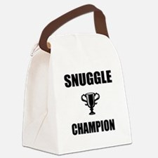 snuggle champ Canvas Lunch Bag