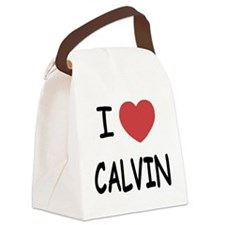 I heart CALVIN Canvas Lunch Bag