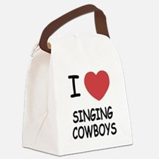 I heart singing cowboys Canvas Lunch Bag