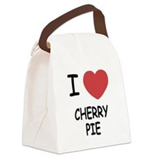 I heart cherry pie Canvas Lunch Bag