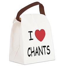 I heart chants Canvas Lunch Bag