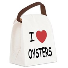 I heart oysters Canvas Lunch Bag