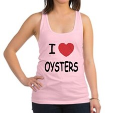 I heart oysters Racerback Tank Top