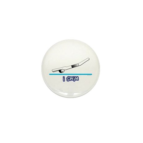 i swim (boy) black suit Mini Button (100 pack)