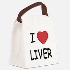 I heart liver Canvas Lunch Bag