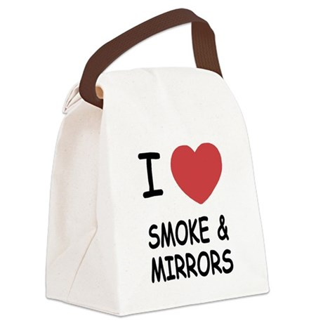 I heart smoke and mirrors Canvas Lunch Bag