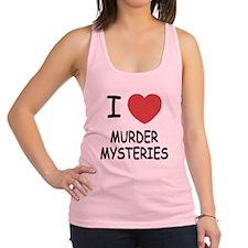 I heart murder mysteries Racerback Tank Top