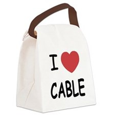 I heart cable Canvas Lunch Bag