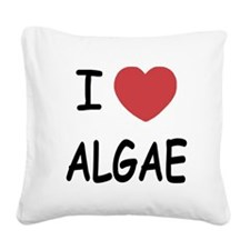 I heart algae Square Canvas Pillow