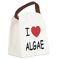 I heart algae Canvas Lunch Bag