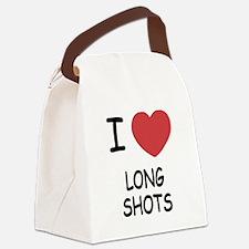 I heart long shots Canvas Lunch Bag