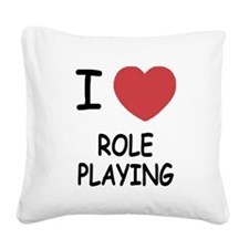 I heart role playing Square Canvas Pillow