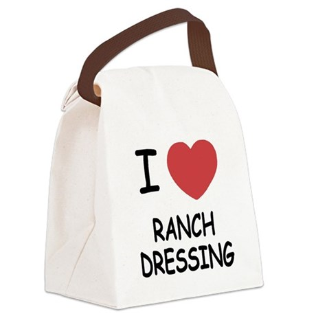 I heart ranch dressing Canvas Lunch Bag