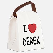 I heart DEREK Canvas Lunch Bag