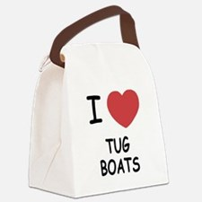 I heart tug boats Canvas Lunch Bag