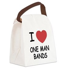I heart one man bands Canvas Lunch Bag