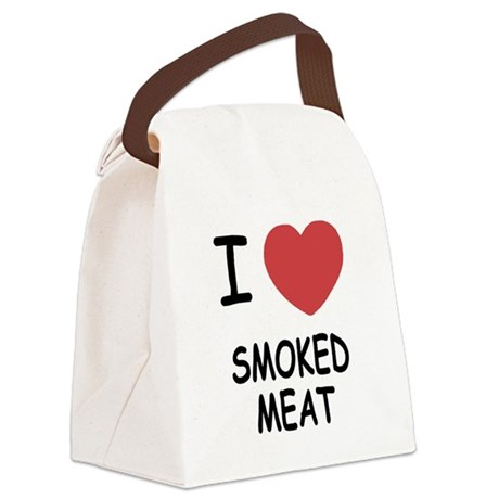 I heart smoked meat Canvas Lunch Bag