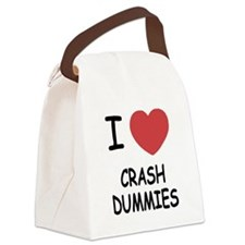 I heart crash dummies Canvas Lunch Bag