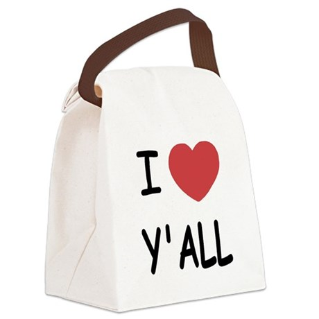 I heart yall Canvas Lunch Bag