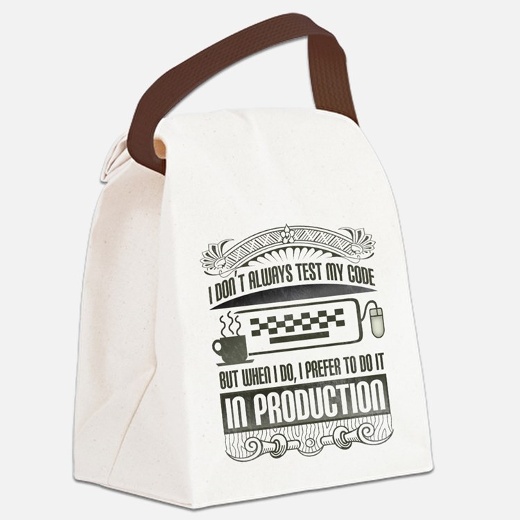 test-my-code-darks.png Canvas Lunch Bag
