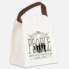 People Not Whites Canvas Lunch Bag