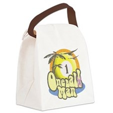 One Balll Man Darks Canvas Lunch Bag