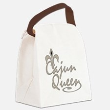 Cajun Queen Fleur De Lis Canvas Lunch Bag