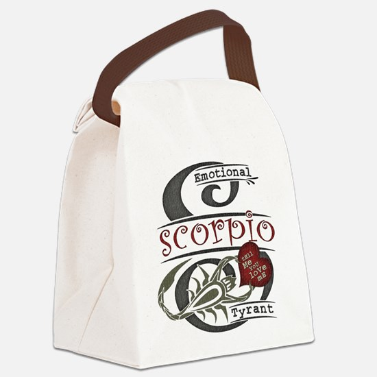 scorpio-heart-dark.png Canvas Lunch Bag