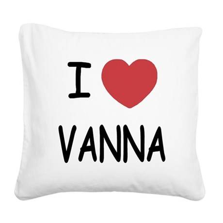 VANNA.png Square Canvas Pillow