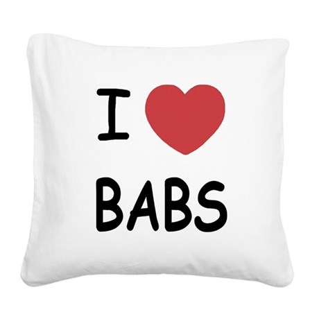 BABS.png Square Canvas Pillow