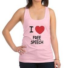 FREE_SPEECH.png Racerback Tank Top