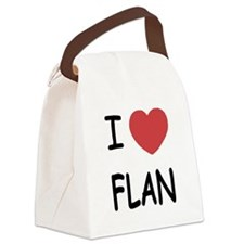 FLAN.png Canvas Lunch Bag