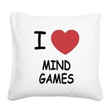MIND_GAMES.png Square Canvas Pillow