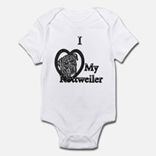 B@W Rottweiler 1 Infant Bodysuit