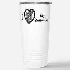B@W Rottweiler 1 Stainless Steel Travel Mug
