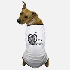 B@W Rottweiler 1 Dog T-Shirt