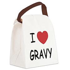 I heart Gravy Canvas Lunch Bag