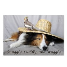 Snuggly , Cuddly and Wuggly Postcards (Package of