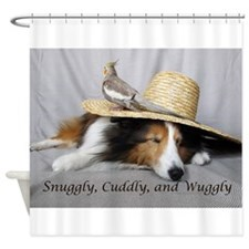 Snuggly , Cuddly and Wuggly Shower Curtain