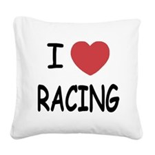 I_loveRACING01.png Square Canvas Pillow