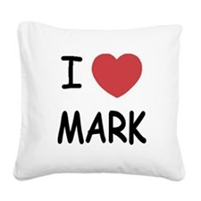 MARK01.png Square Canvas Pillow