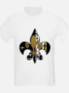 Fleur de lis bling black and gold T-Shirt