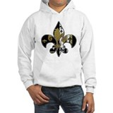 Black and gold Hooded Sweatshirt